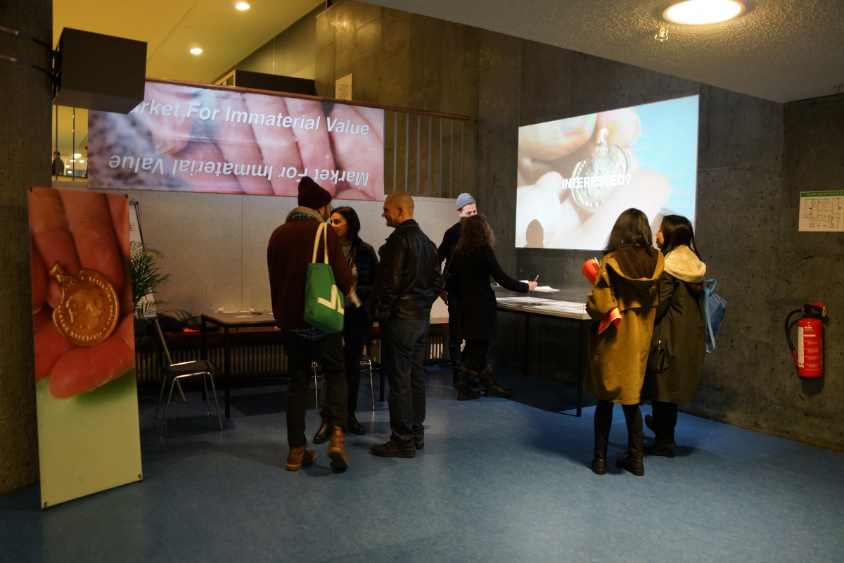 Market for Immaterial Value during transmediale 2016. (Image: Sumugan Sivanesan)