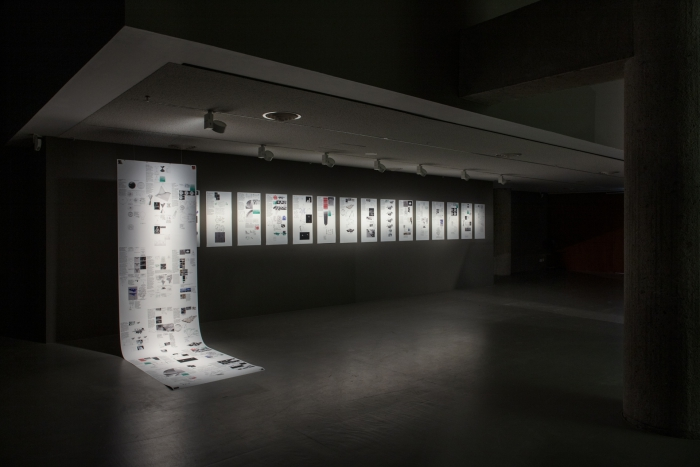Ausstellungsansicht Critical Atlas of the Internet von Louise Drulhe. Photo Luca Girardini, CC NC-SA 4.0