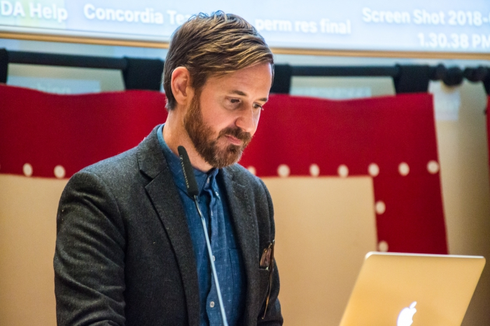 Joshua Neves at the transmediale McLuhan Lecture 2020